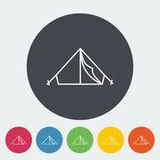 Tent icon - stock illustration