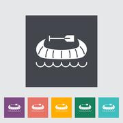 Canoe icon - stock illustration