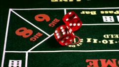 Casino Dice Lucky Seven Super Slow Motion Stock Footage