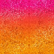 Glitter background in gold, red, pink and yellow - stock illustration