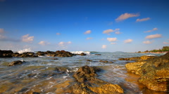 The sea with blue sky on summer season Stock Footage