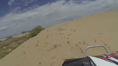 ATV RZR ride sand dunes POV trail ride recreation HD 349 Stock Footage