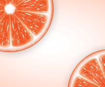 Stock Illustration of Grapefruit slices