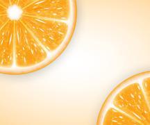 Orange slices - stock illustration