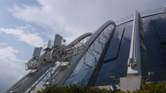 Building in the park Gardens by the Bay Singapore. - stock footage