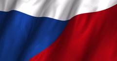 Czech Republic waving flag 4K Stock Footage
