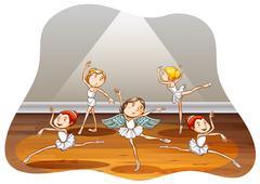Ballet - stock illustration