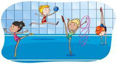 Gymnastic - stock illustration