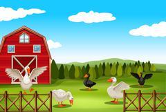 Farmland - stock illustration