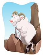 Tn_goat_mountainFBD_02 Stock Illustration