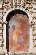 Stock Photo of Niche Fresco in Real Alcazar of Seville