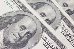Background with money US dollar bills (100$) - stock photo