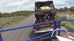 Driving towing off road recreation vehicles fast time laspe POV HD 350 Stock Footage