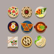 Korean food Vector Illustration - stock illustration
