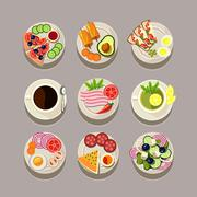 Stock Illustration of Breakfast Concept With Fresh Food