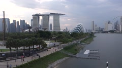 Urban landscape of Singapore  - stock footage