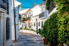 Picturesque street of Rancho Domingo Stock Photos
