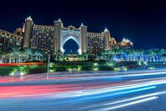 Dubai - JANUARY 8, 2015: Atlantis the Palm Hotel on January 8 in Stock Photos