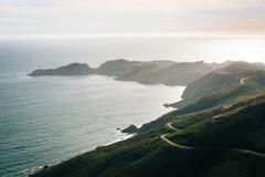 View of the Marin Headlands from Hawk Hill,  Golden Gate National Recreation  Stock Photos