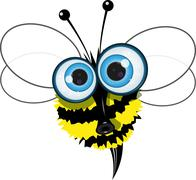 Angry bee Stock Illustration