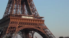 Paris - Eiffel Tower at sunset Stock Footage