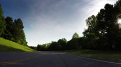 Traveling Along the Natchez Trace Parkway - stock footage
