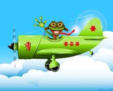 Frog pilot Stock Illustration