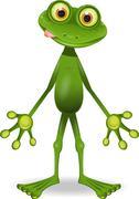 crazy frog - stock illustration