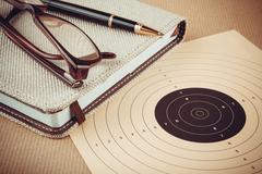Objectives and planning concept, goal setting - stock photo