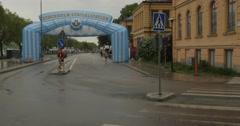 Stockholm maraton 10 km line Stock Footage