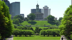 The Bicentennial Mall Park in Nashville, Tennessee Stock Footage