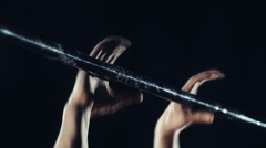 Back Lever Exercise Stock Footage