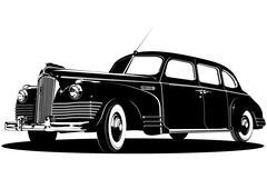 Limousine silhouette Piirros
