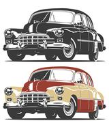 Retro car Stock Illustration