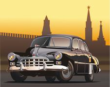 Vintage limousine Stock Illustration