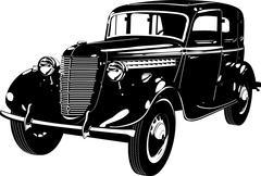 Retro car Piirros
