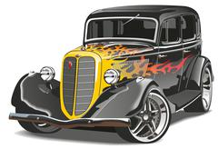 Retro hotrod Stock Illustration