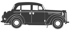 Vintage car silhouette Piirros