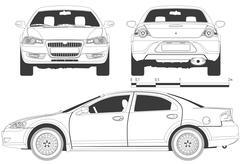 draft car - stock illustration