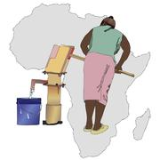 Water essential commodity for Africa - stock illustration