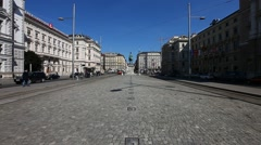 Busy City scene at one of the most famous squares in the center of Vienna called Stock Footage
