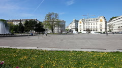 Schwarzenbergplatz is a Vienese square in Vienna - Austria Stock Footage