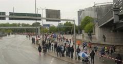 People running maraton in sweeden Stock Footage