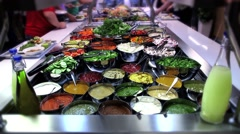 Salad Bar Time Lapse Stock Footage