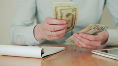 Woman Doing Finances at Home - stock footage