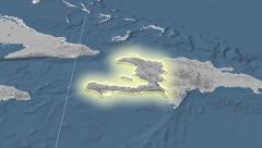 Haiti. Neighbourhood. Elevation - stock footage