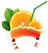 Juicy orange slices Stock Illustration