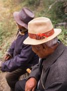 Tibet people who believe in Buddha - stock photo