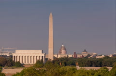 Lincoln Memorial and Washington Monument timelapse Stock Footage
