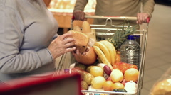 Shopping at the Supermarket - stock footage